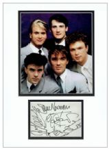 Spandau Ballet Autograph Signed Display